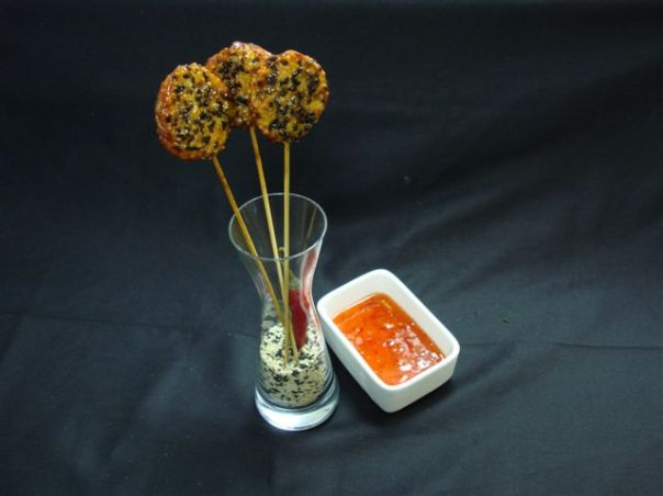 Sesame Chicken Lollipops