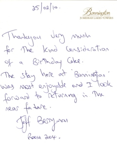 Guest Comments Wednesday at the Bonnington in Dubai
