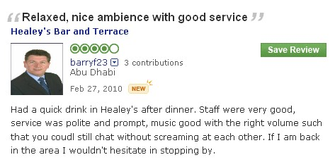 #guestcommentswednesday at the Bonnington - Healey's Bar & Terrace