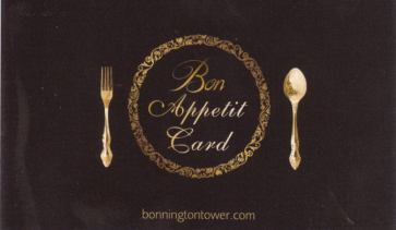 Bonnington Bon Appetit Card