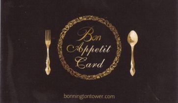 Bonnington Bon Appetit Card