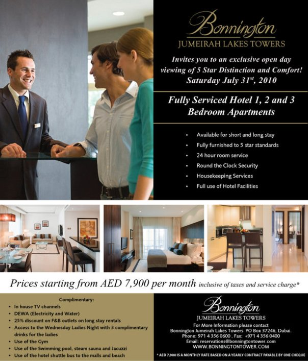 Open House at the Bonnington in Jumeirah Lakes Towers!