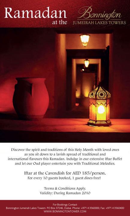 Ramadan at the Bonnington Jumeirah Lakes Towers iftar in jlt