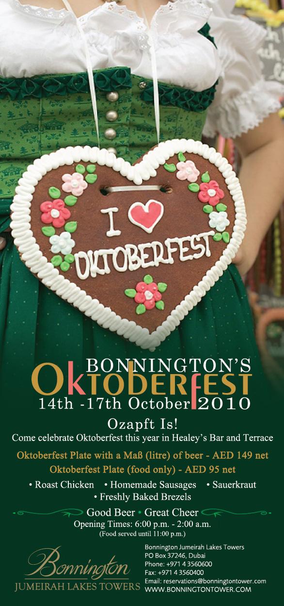 Oktoberfest in Healey's! Bonnington goes Bavaria!