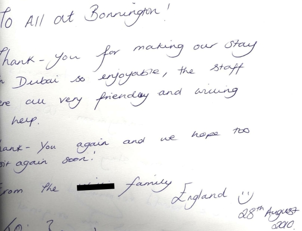 #guestcommentswednesday bonnington guest comments dubai hotel