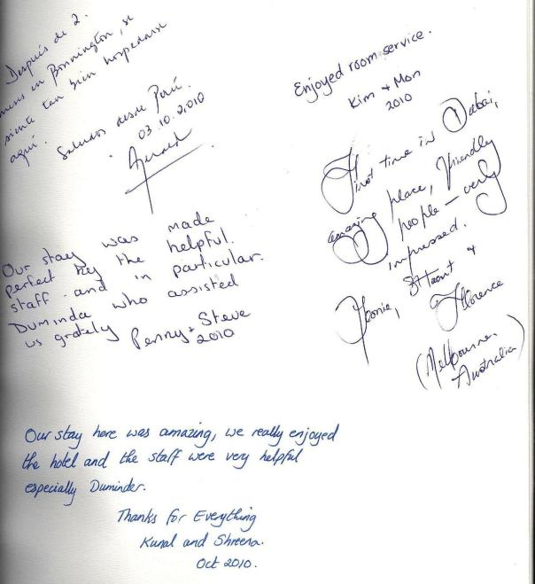 #guestcommentswednesday - Stay with us and sign the Golden Book at the Bonnington!