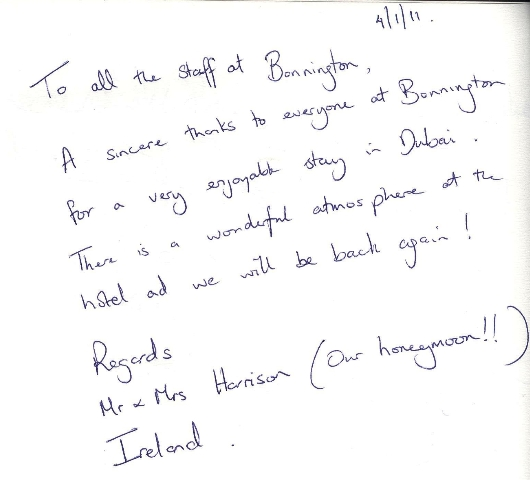 #guestcommentswednesday dubai hotels bonnington