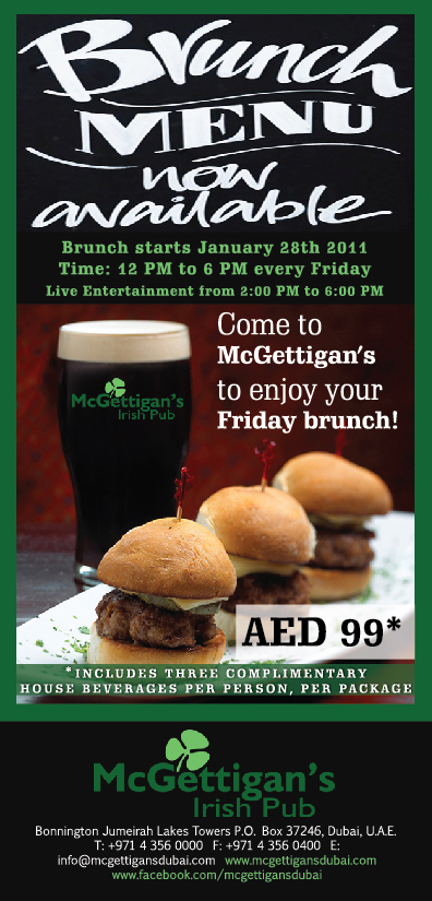 Friday brunch at McGettigan's - a real alternative to you know where!