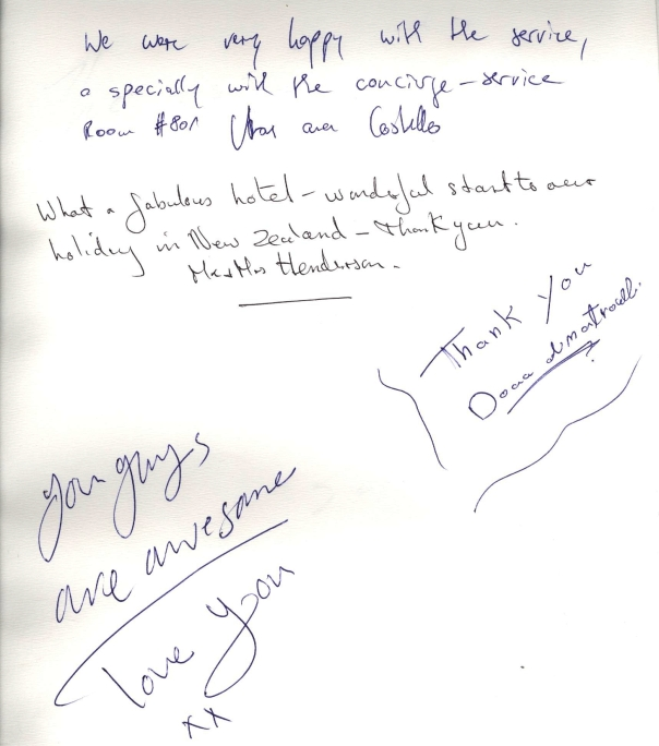 Another #guestcommentswednesday comment from guests at the Bonnington