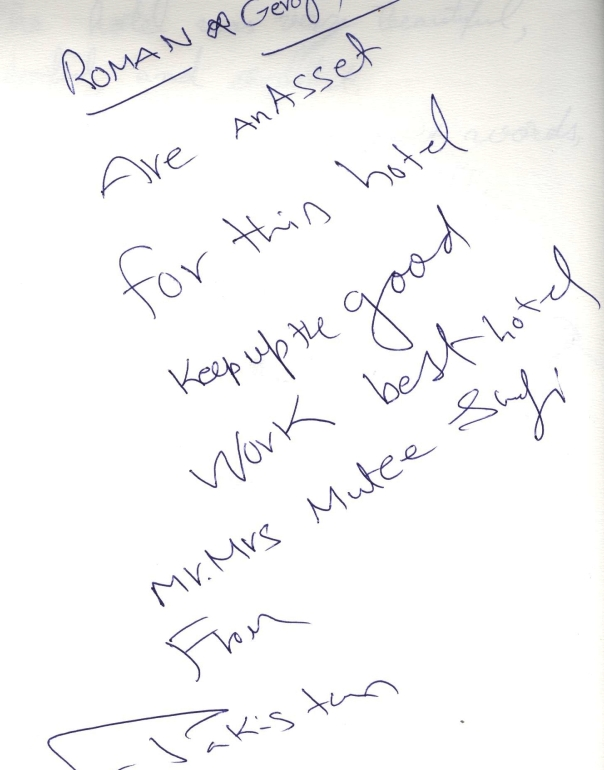 #guestcommentswednesday in Dubai at the Bonnington where guest comments count!