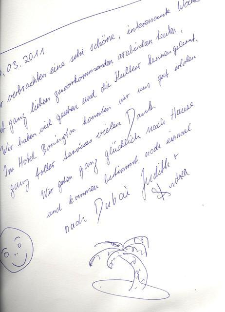#guestcommentswednesday - jetzt auch auf Deutsch! Dubai Hotel Bewertungen!