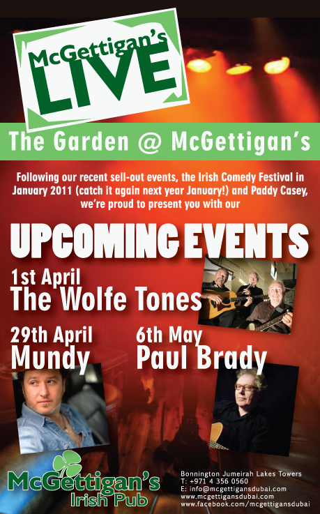 Dubai's new venue for live music - McGettigan's! Beats the village!