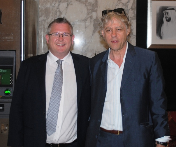 The Bonnington welcomes Sir Bob Geldof