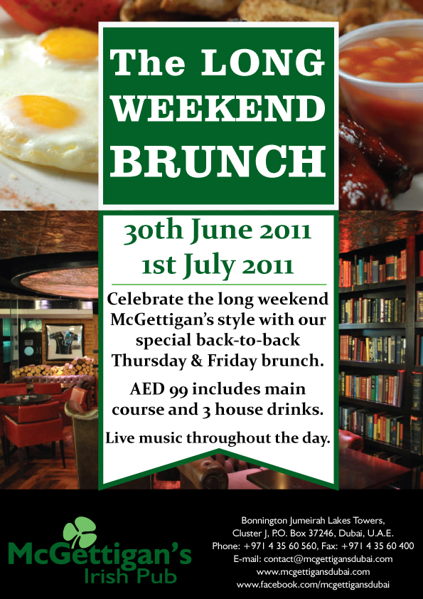Double brunch at McGettigan's in Dubai!