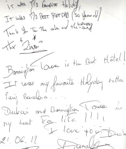 #guestcommentswednesday at the Bonnington in Dubai!