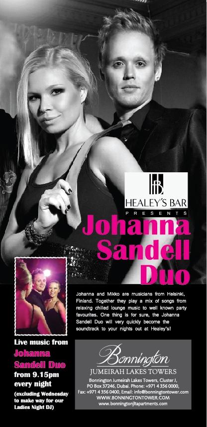 Johanna Sandell Duo - live music in JLT Dubai