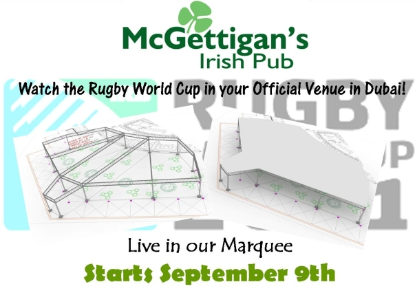 McGettigan's at the Bonnington - the only place to watch the 2011 Rugby World Cup in Dubai!