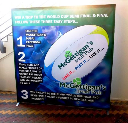 Win a trip to New Zealand for the Rugby Finals only at McGettigan's in the Bonnington!
