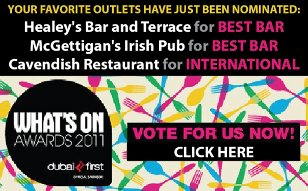 Vote for the Bonnington's restaurants & bars in the 2011 What's On Awards!