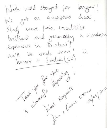 #guestcommentswednesday Bonnington Hotel Dubai Guest Reviews and Comments