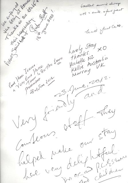 Guest Comments Wednesday in Dubai at the Bonnington #guestcommentswednesday