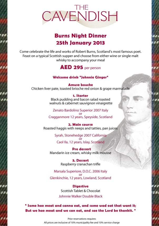 burns supper menu template - january 2013