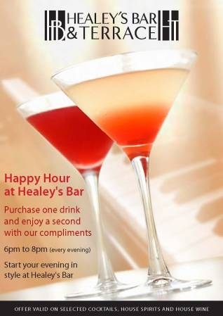 Healey's Happy Hour Promotion
