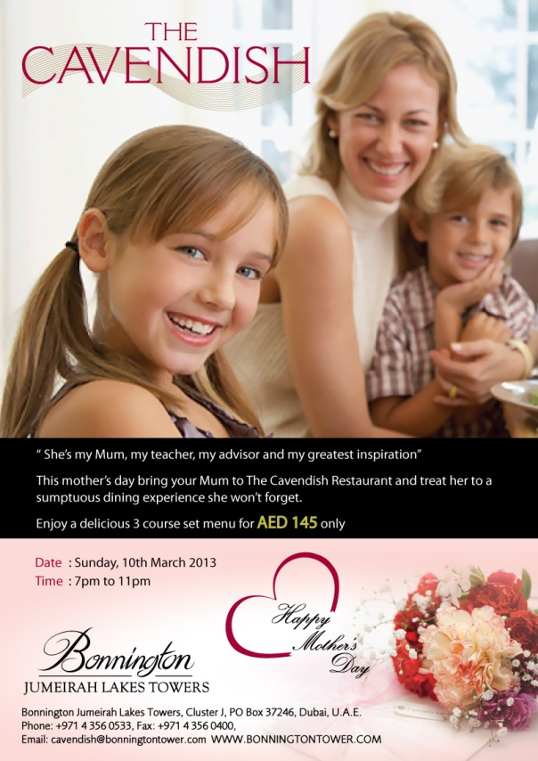 Mother's Day at the Cavendish in Dubai