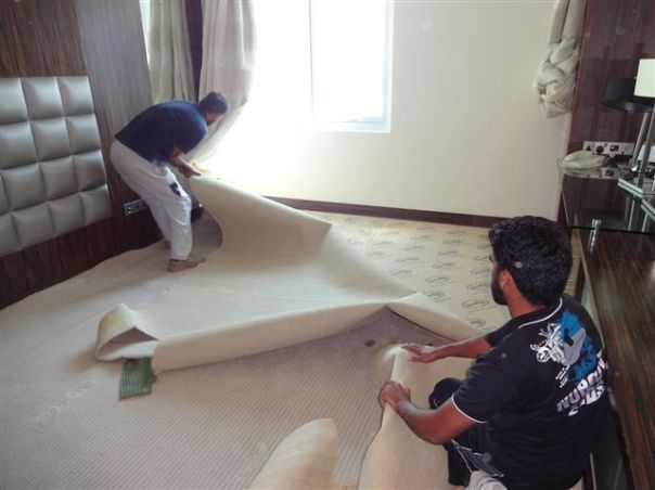 Remove old carpet
