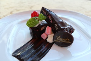Author's Lounge Month January-1-Dark Chocolate Marsh Mallow Brownie