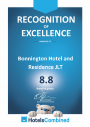booking.com Recognition of Excellence